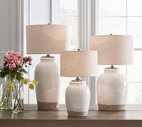 Miller Ceramic Table Lamp, Ivory