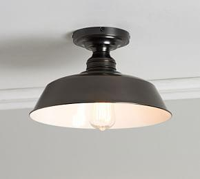 PB Classic Farmhouse Metal Flush Mount