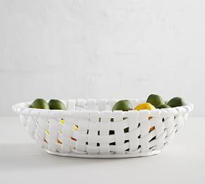 Basketweave Serving Bowl