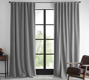 Ferguson Textured Cotton Curtain - Gray