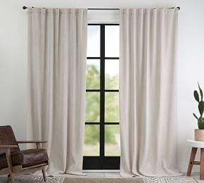 Ferguson Textured Cotton Curtain - Flax