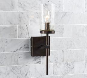 Rustic Torch Single Sconce