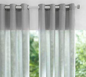 Indoor/Outdoor Sheer Grommet Curtain - Gray Drizzle