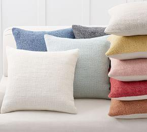 Faye Textured Linen Pillow Covers