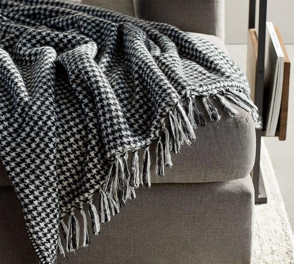 Houndstooth Sherpa Throw