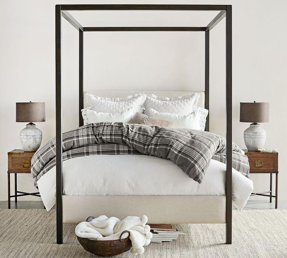 Canopy Bed.Atwell Metal Canopy Bed Pottery Barn Ca