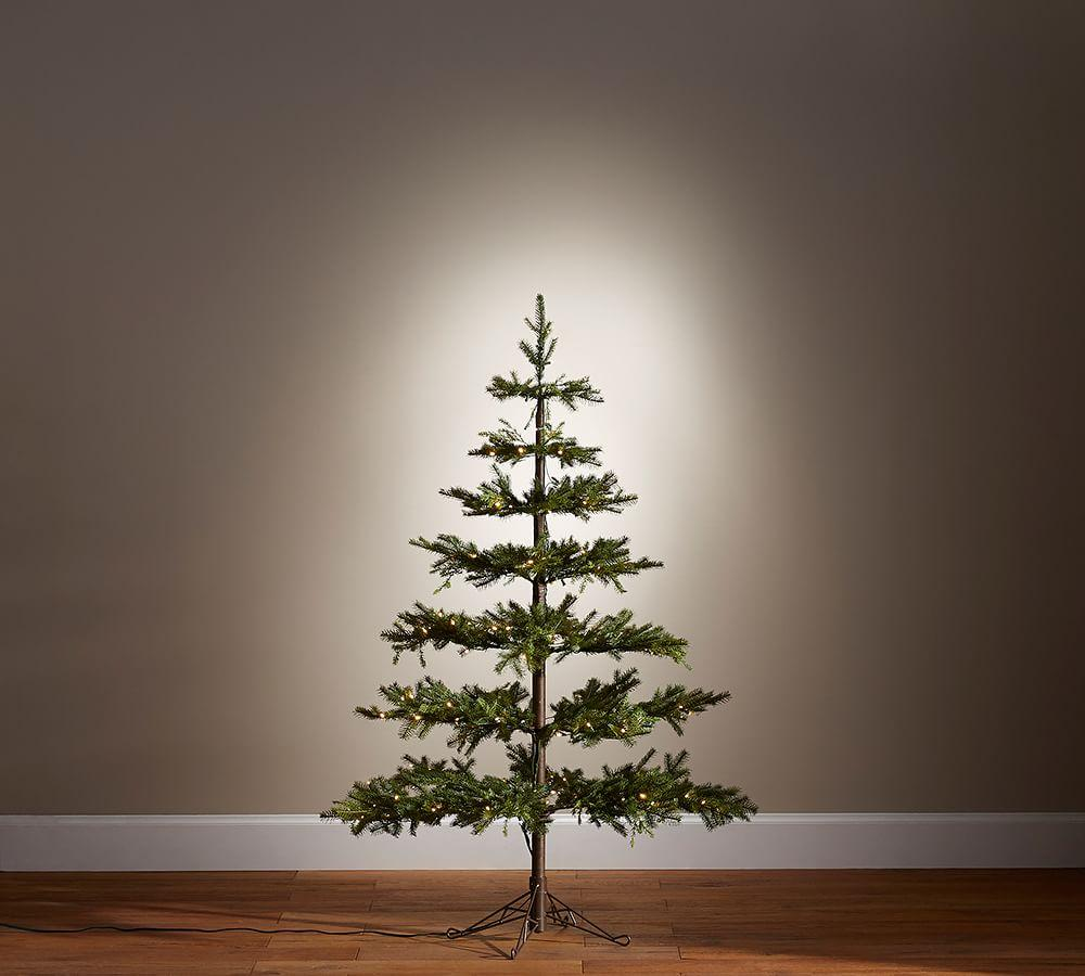 Lit Faux Pine Christmas Trees Pottery Barn Ca