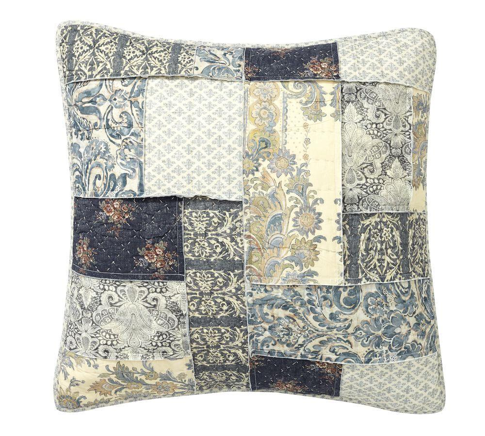 Delaney Reversible Patchwork Quilt Sham | Pottery Barn CA