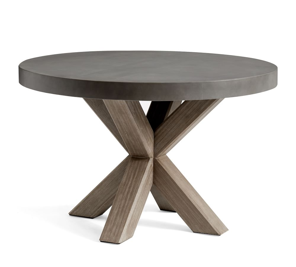 Abbott Round Dining Table, Gray