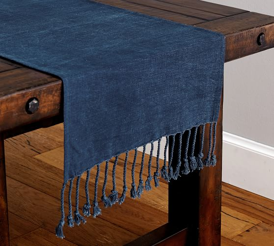 Indigo Knotted Table Runner