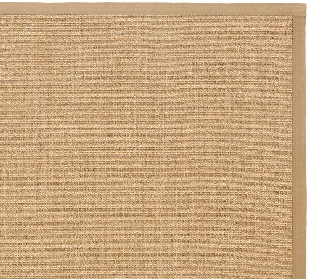Color-Bound Natural Sisal Rug