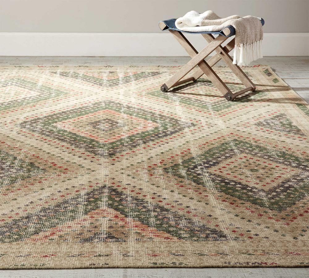Neva Hand-Knotted Rug - Green Multi