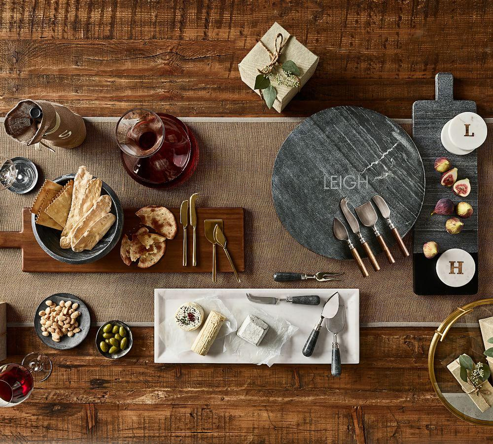 White Marble Long Cheese Board Pottery Barn Ca