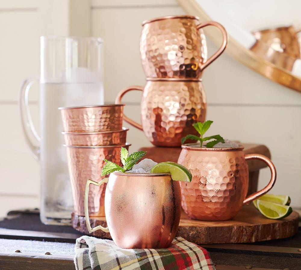 Hammered Copper Moscow Mule Mug Set Of 2 Pottery Barn Ca