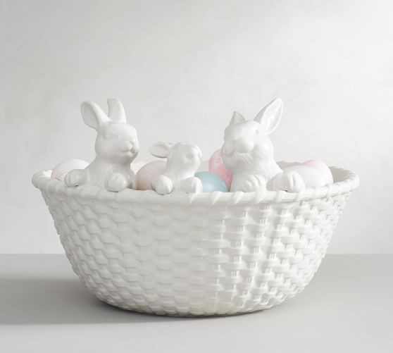 Bunny Basket Serving Bowl