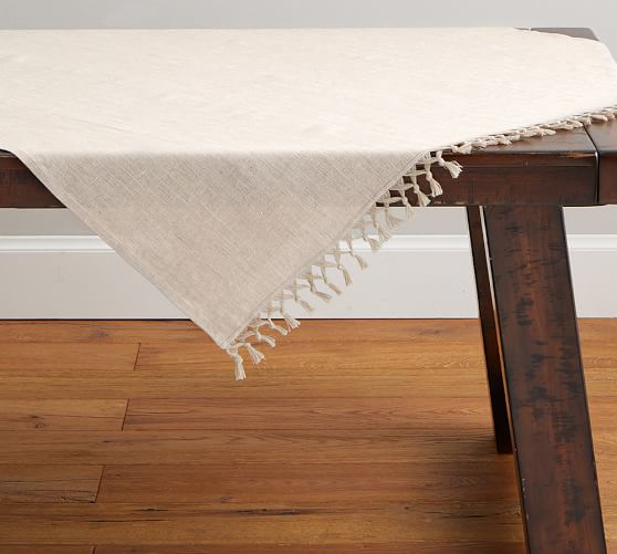 Fringe Knotted Table Throw
