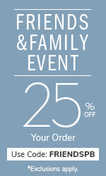 Friends and Family Event 25% off your order with code FRIENDSPB