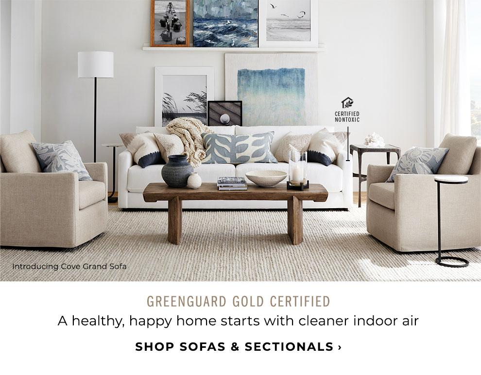 Greenguard Gold Certified. Shop Sofas & Sectionals