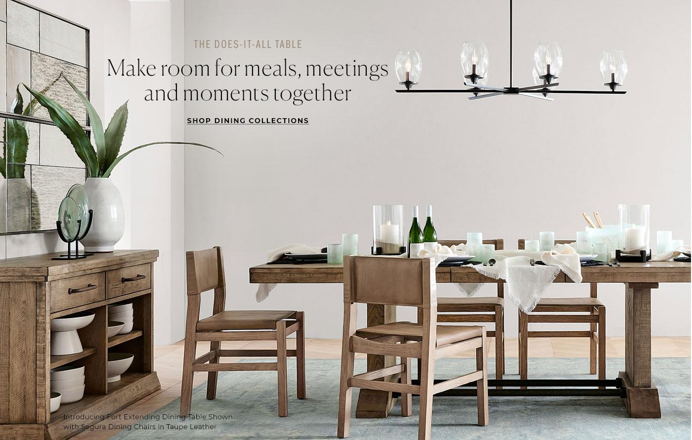 The Does-It-All Table. Shop Dining Collections.