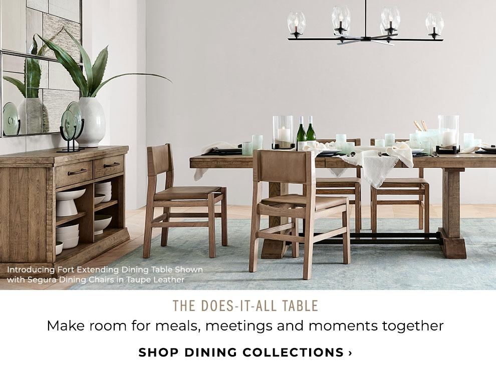 The Does-It-All Table. SHop Dining Collections