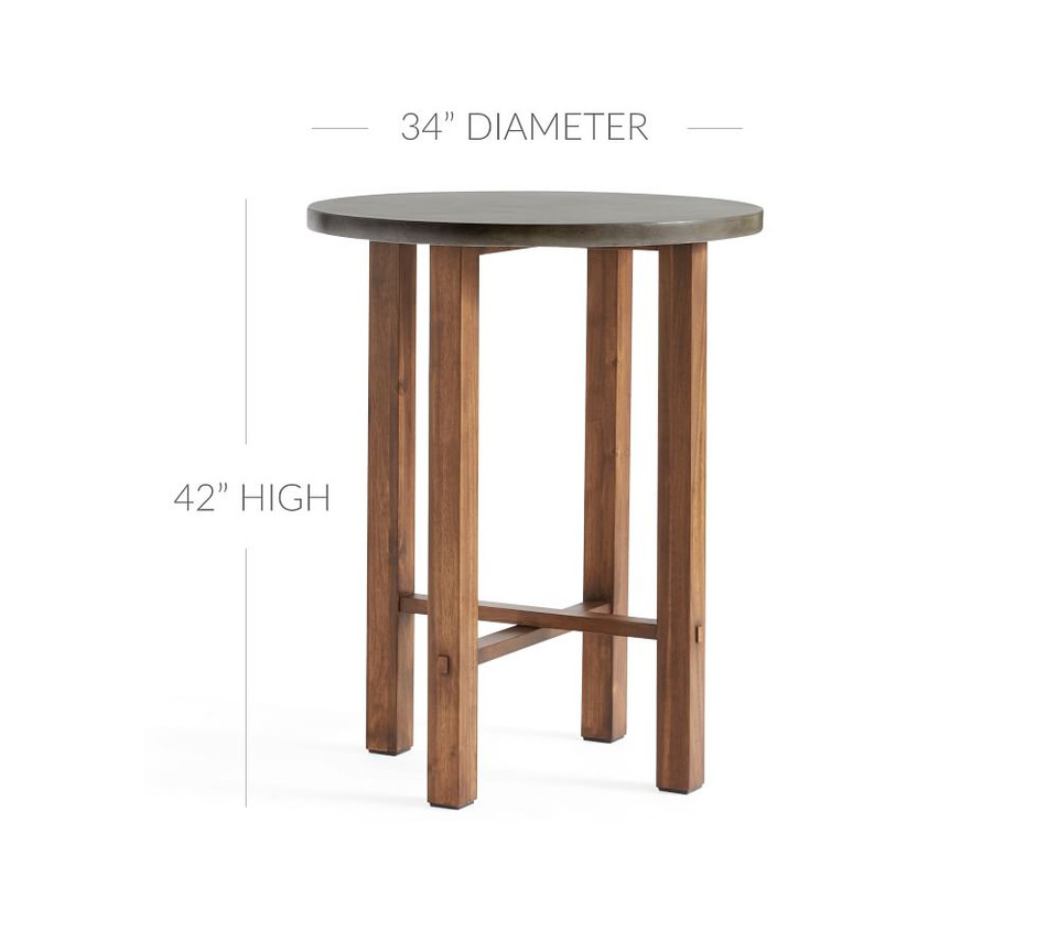 Abbott Bar Height Table, Brown