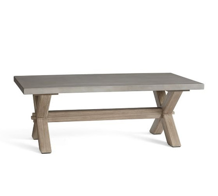 Abbott Rectangular Coffee Table, Gray