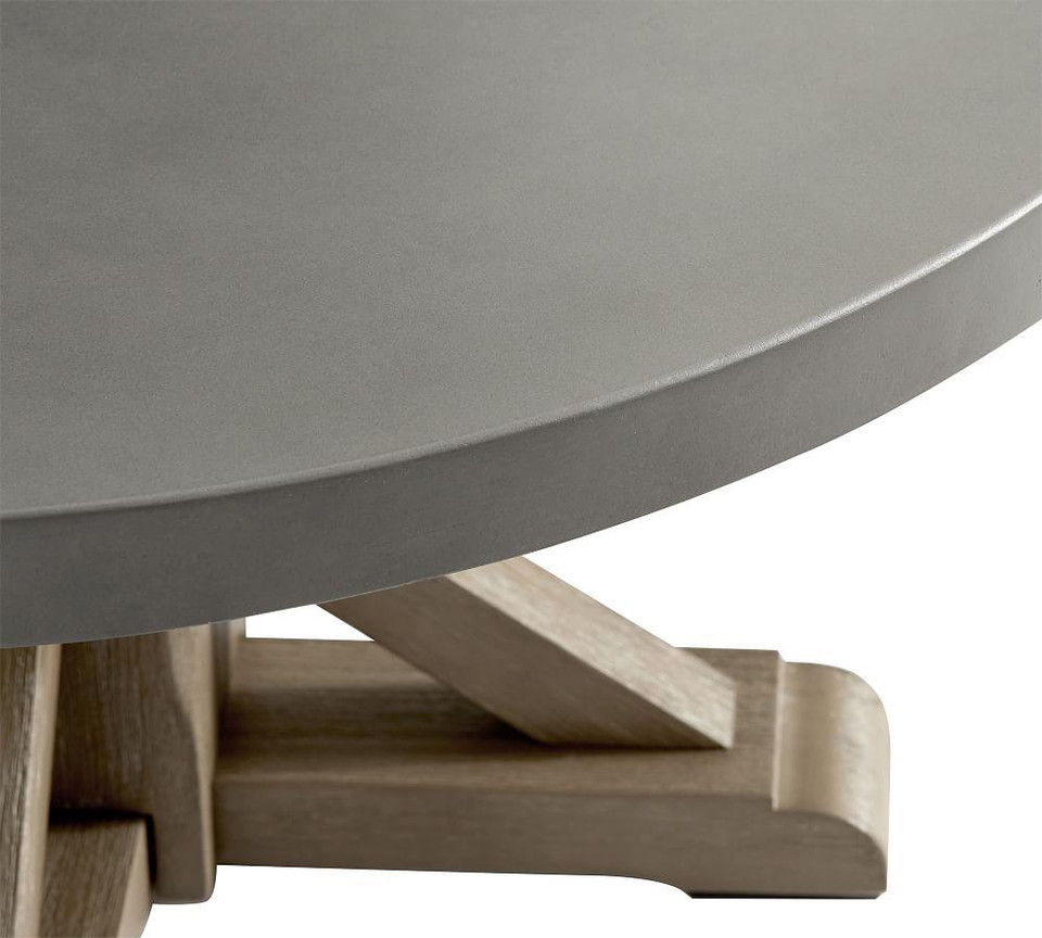 Abbott Round Coffee Table, Gray