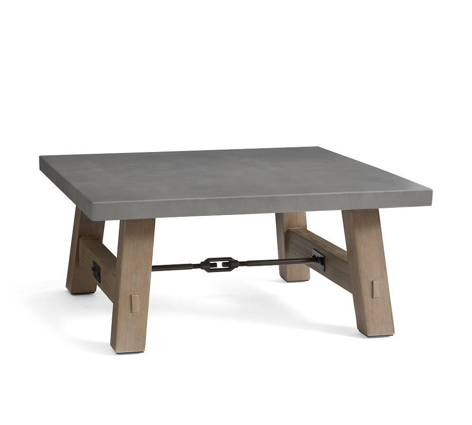 Abbott Square Coffee Table, Gray