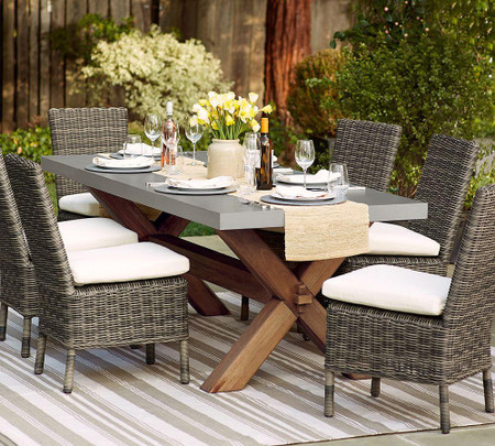 Abbott Rectangular Dining Table & Huntington Dining Chair Set