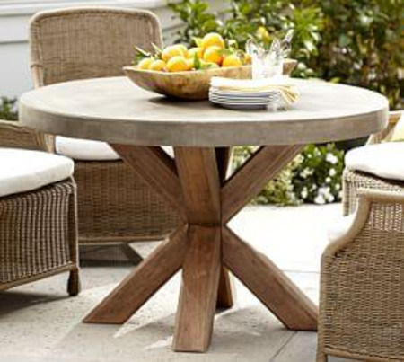 Abbott Round Dining Table, Brown