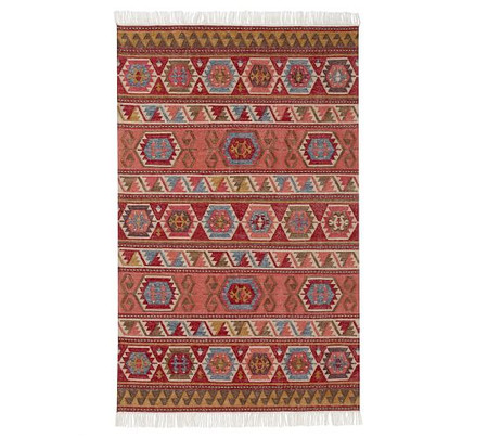 Ahkilah Eco-Friendly Kilim Indoor/Outdoor Rug - Warm Multi