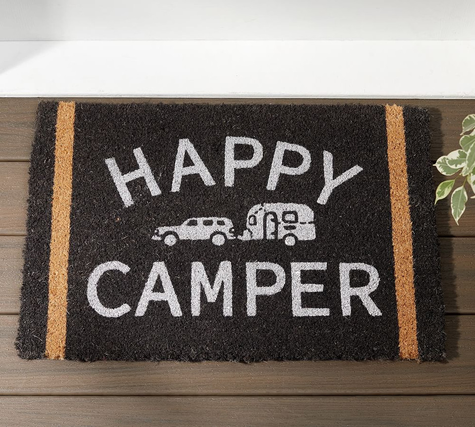 Airstream Happy Camper Doormat