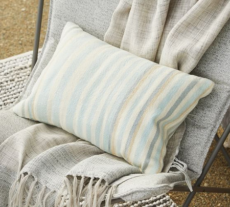 Airstream Striped Indoor/Outdoor Lumbar Pillow