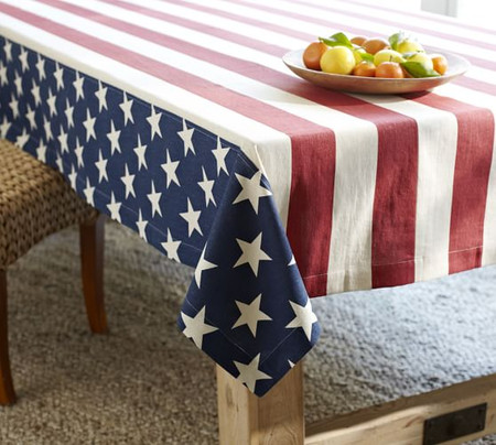 American Flag Tablecloth