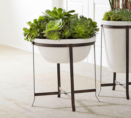 Amir Planter With Stand Low Bowl