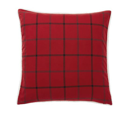 Anderson Windowpane Sherpa Decorative Pillow Cover