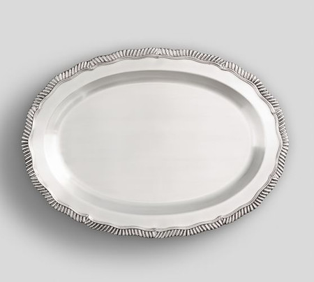 Antique Silver Oval Tray