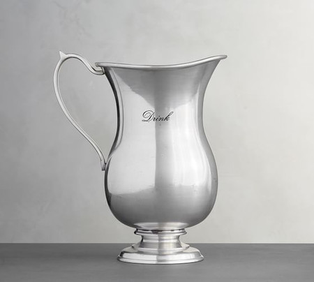 Antique Silver Sentiment Pitcher