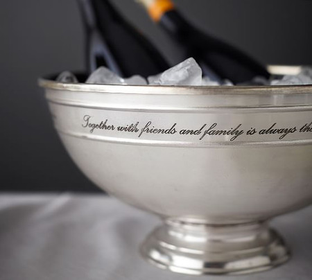 Antique Silver Sentiment Serve Bowl
