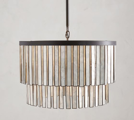 Astrid Mother of Pearl Round Chandelier