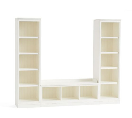Aubrey 3-Piece Entryway Set With Bookcases