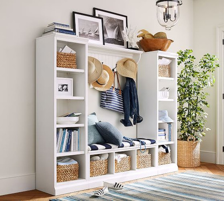 Aubrey 4 Piece Entryway Set With Bookcases
