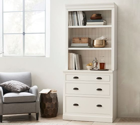 Aubrey Double Lateral File Cabinet Bookcase
