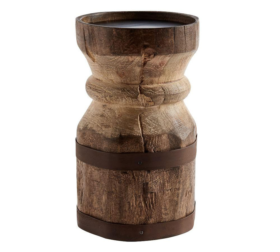 Axel Eclectic Wood Candle Holders