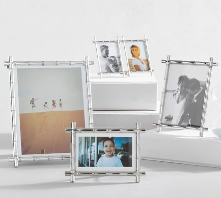 Bamboo Picture Frames - Silver