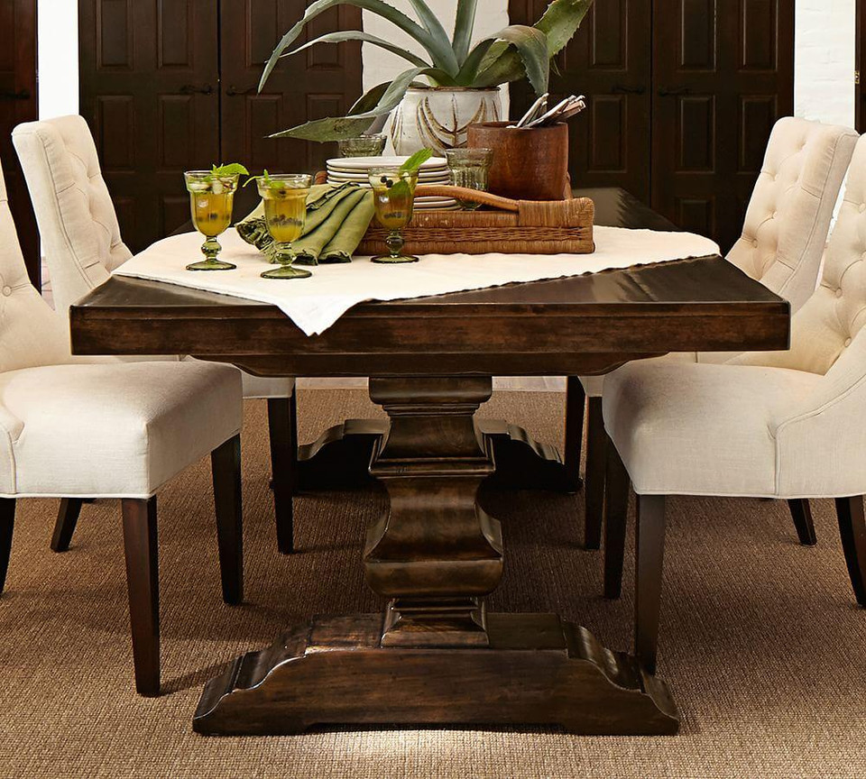 Banks Extending Dining Table, Alfresco Brown