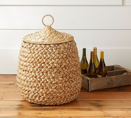Beachcomber Lidded Tulip Basket