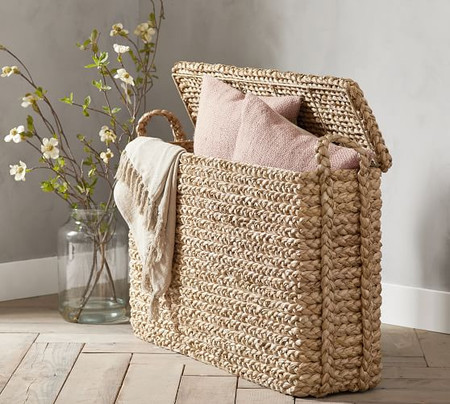 Beachcomber Oversized Lidded Basket