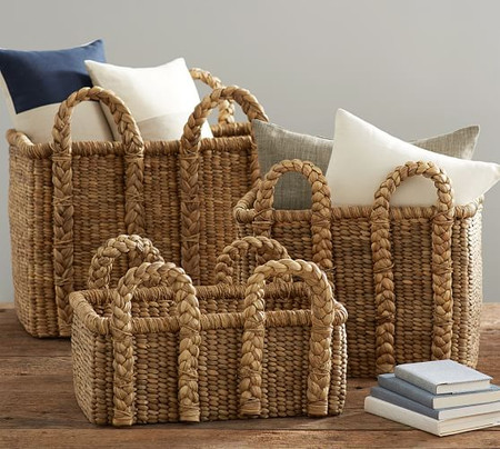 Beachcomber Rectangular Handled Baskets