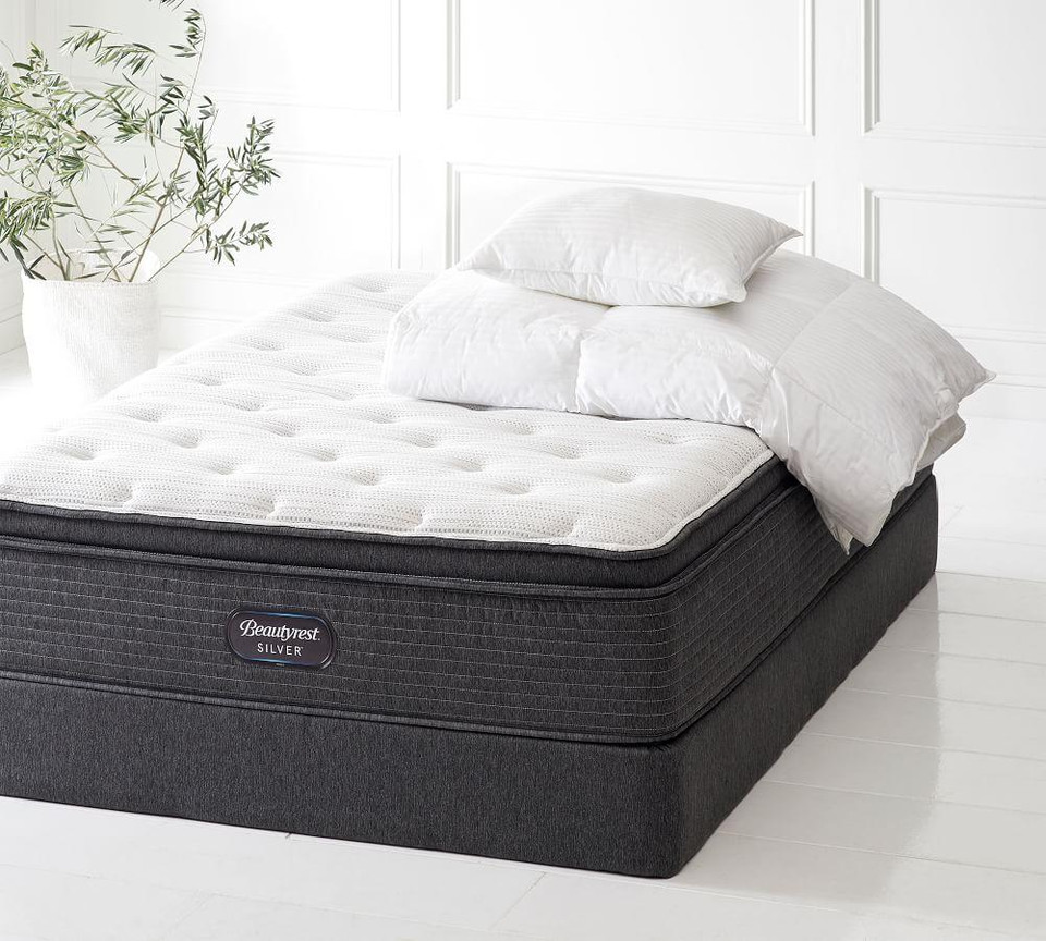 Beautyrest 174 Silver Premier Spring Mattress Set Pottery
